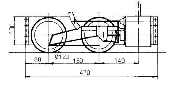 Maschinengestell Achsfolge B