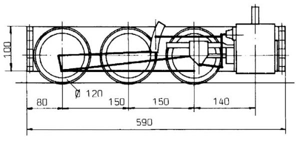 Maschinengestell Achsfolge C
